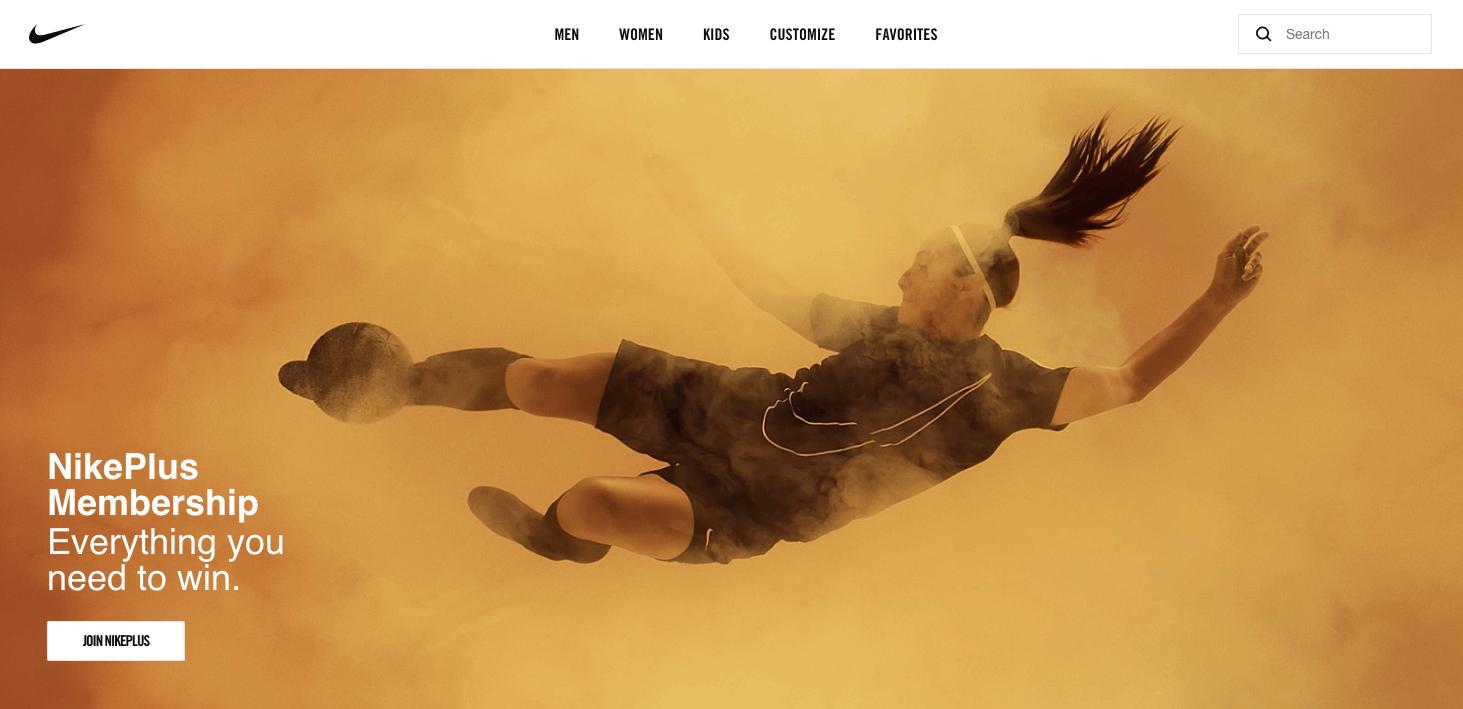 The Best eCommerce Loyalty Programs - Nike plus