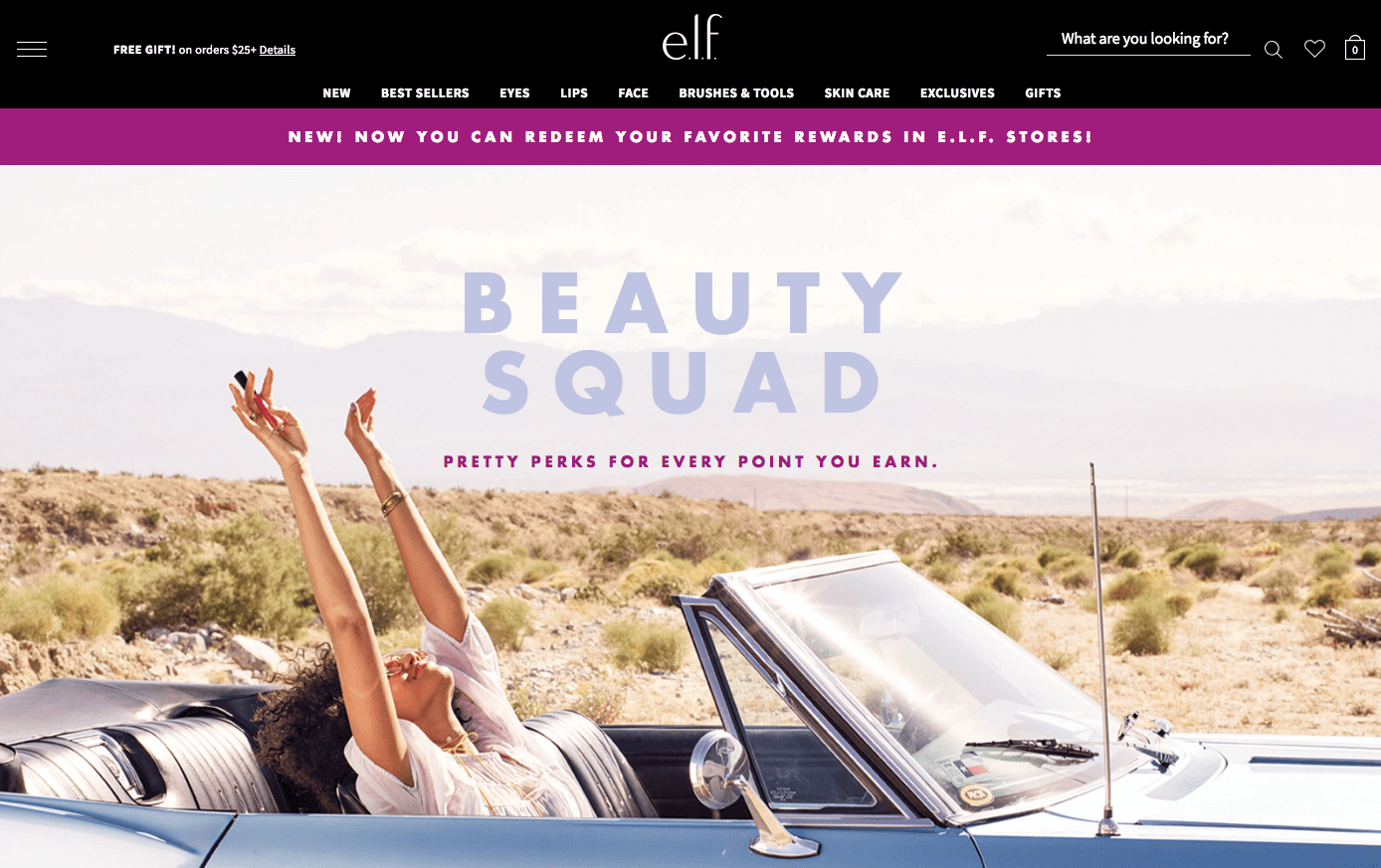 The Best eCommerce Loyalty Programs - elf beauty squad