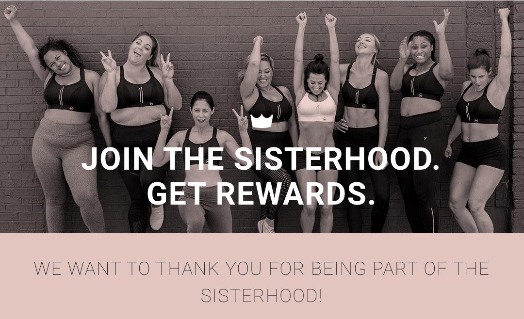 SheFit Sisterhood Rewards banner
