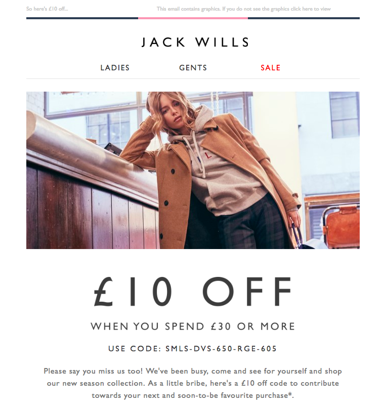 Calculate Purchase Frequency Email Jack Wills We Missed You