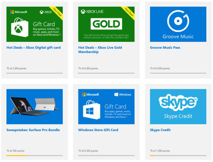 Exclusive Rewards Microsoft