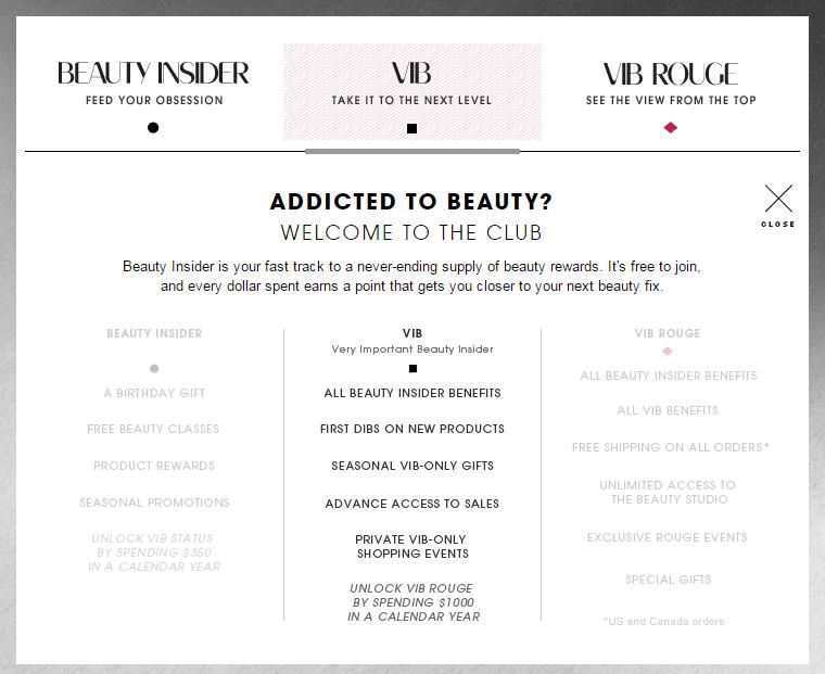 Exclusive Rewards Beauty VIB Sephora