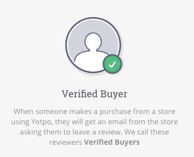 Yotpo verified buyer