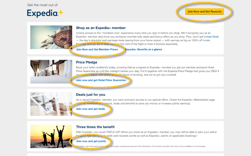 expedia+ join now