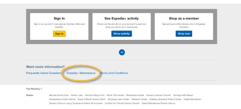 expedia+ marketplace