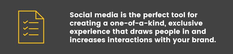 Loyalty Program in the Apparel Industry social media