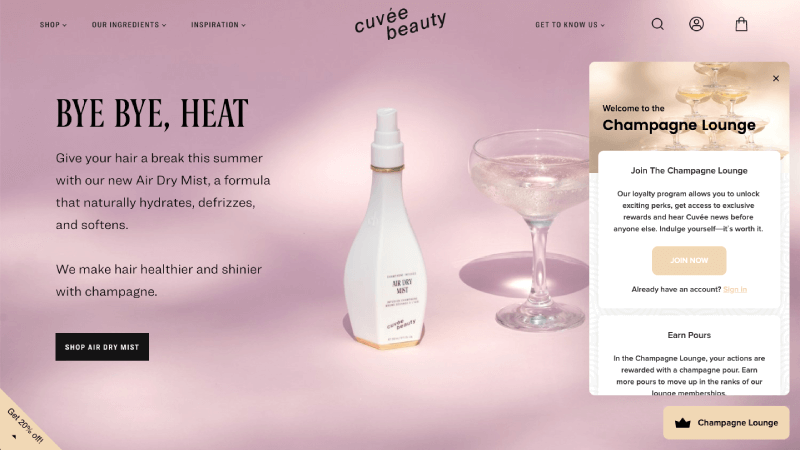 Cuvee Beauty Champagne Lounge
