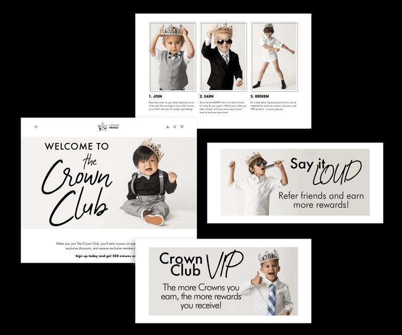 Littlest Prince Crown Club explainer page elements