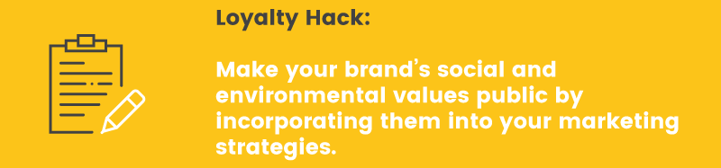brand loyalty hack values