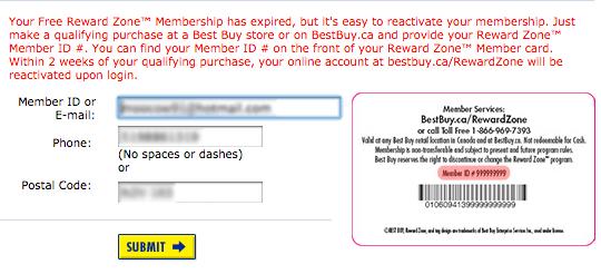 reward zone membership expiry