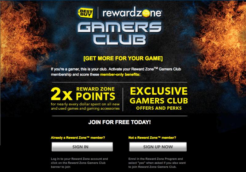 reward zone gamers club