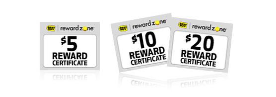 reward zone certificates