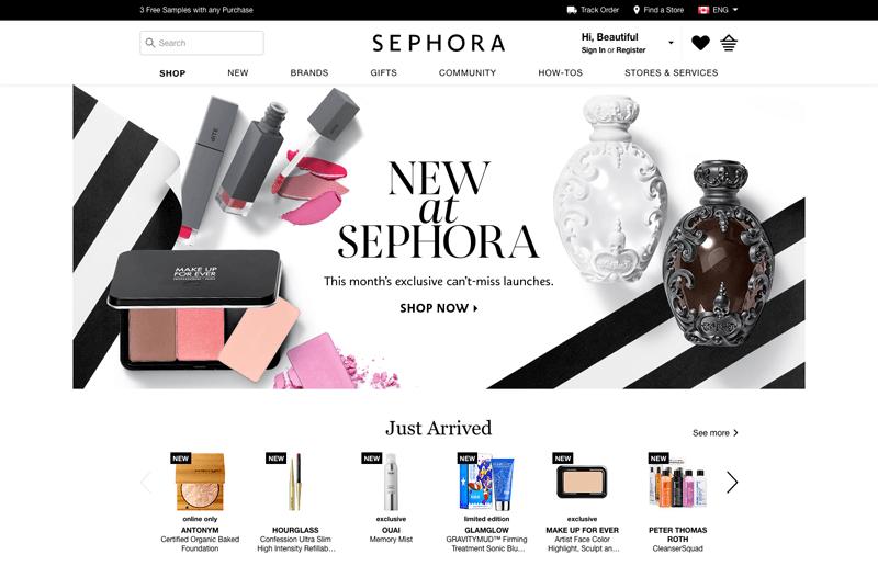 sephora VIB case study homepage