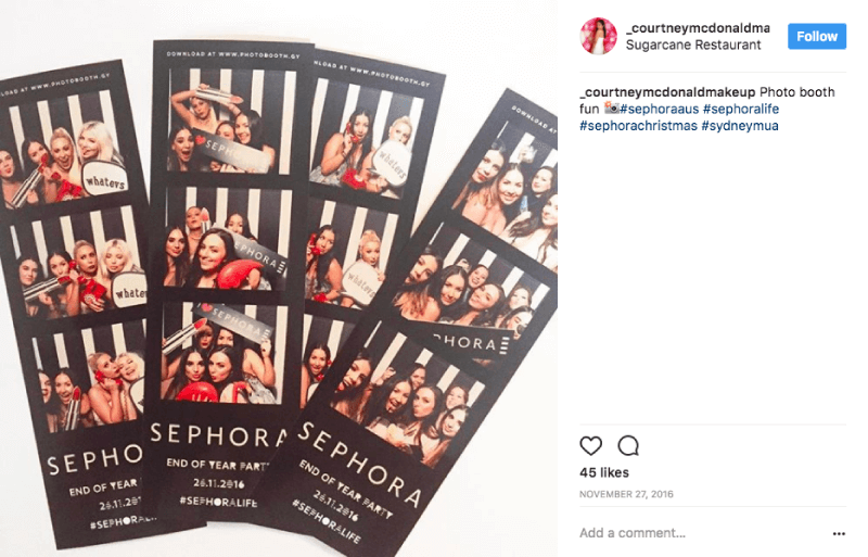 holiday marketing special events sephora photobooth