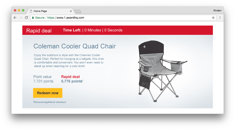 Rapid Rewards Deal for Coleman Chair