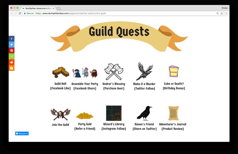 gamification for VIP programs skullsplitter explainer page ways to earn