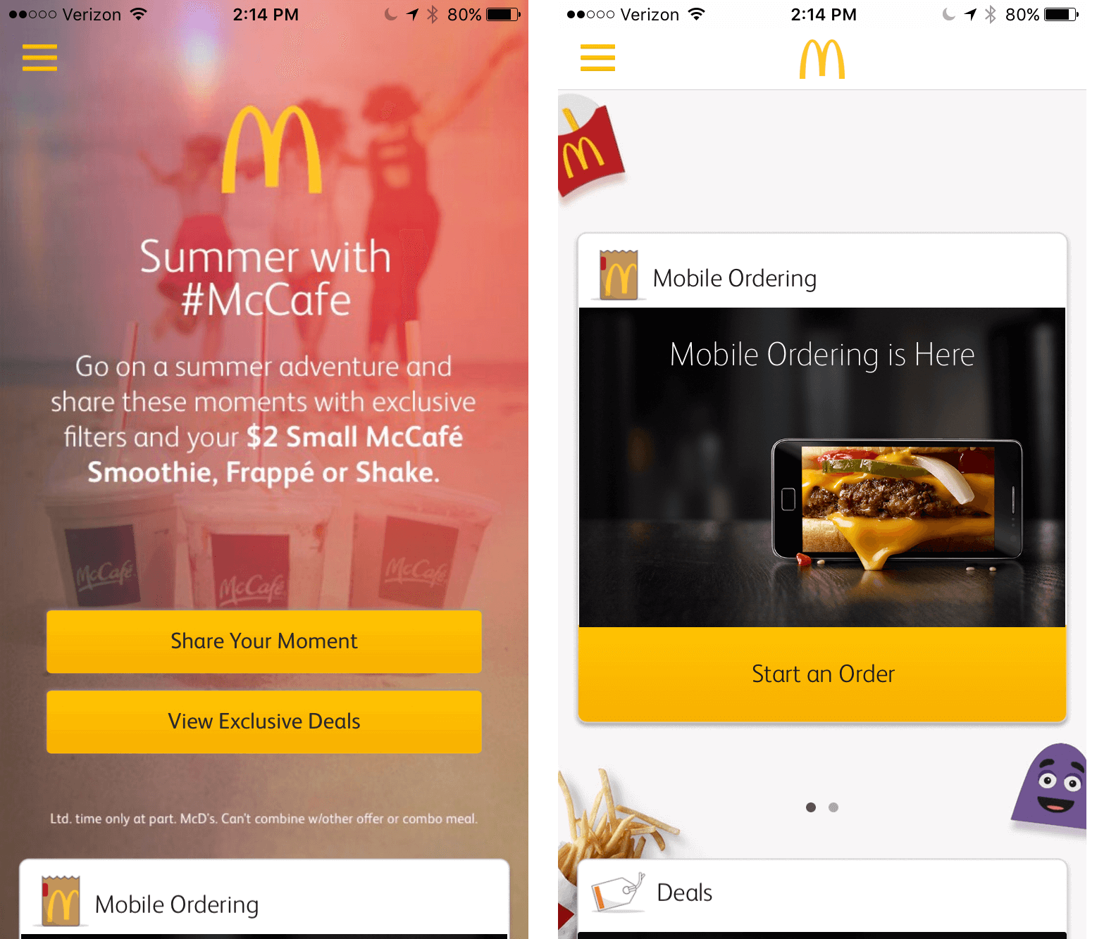 Summer With McCafe Promotion