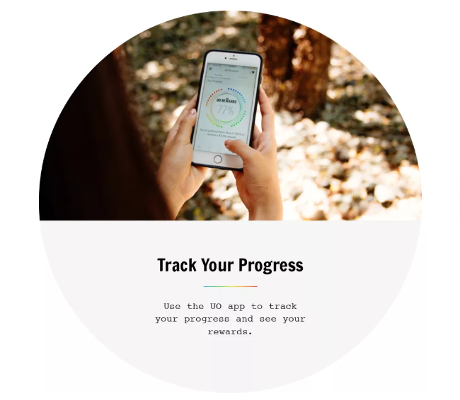 urban outfitter's UO rewards app