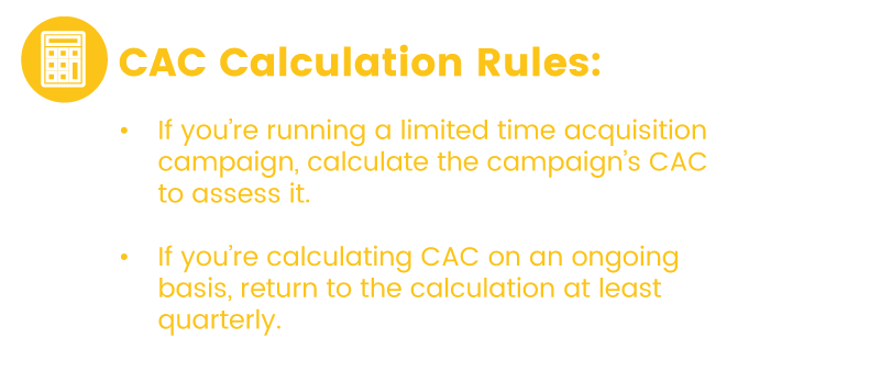 CAC Frequency rules