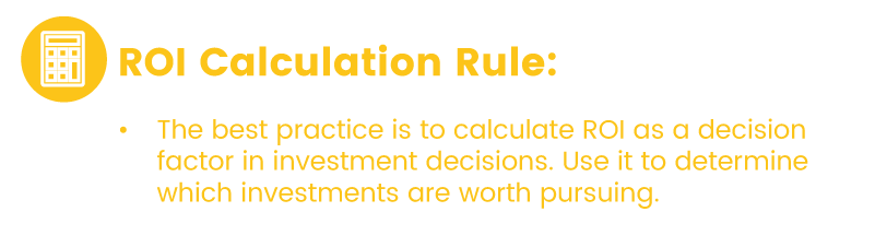 Return on investment frequency rules