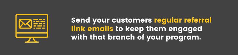 migrate your rewards program referral link emails