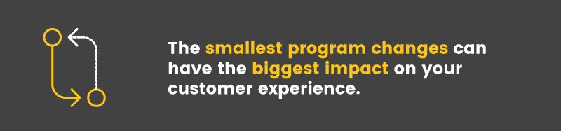 migrate your rewards program small changes