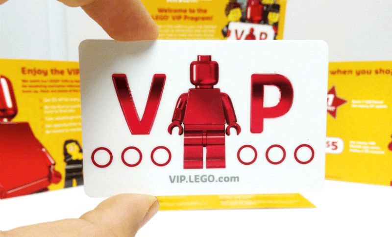 LEGO VIP program card