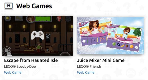 LEGO VIP program web games