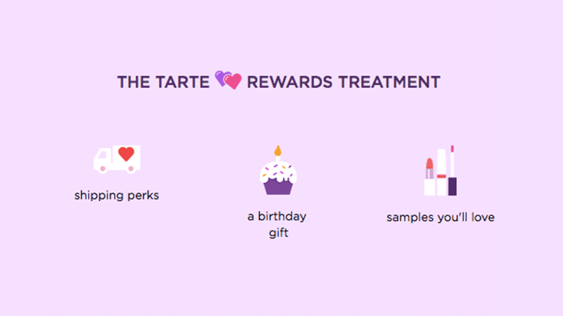 The tarte Rewards Treatment