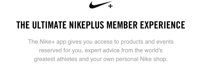 Nike Case Study Member Experience