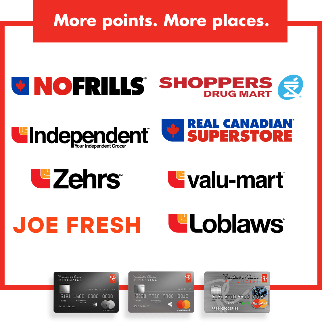 Places to Earn PC Optimum Points