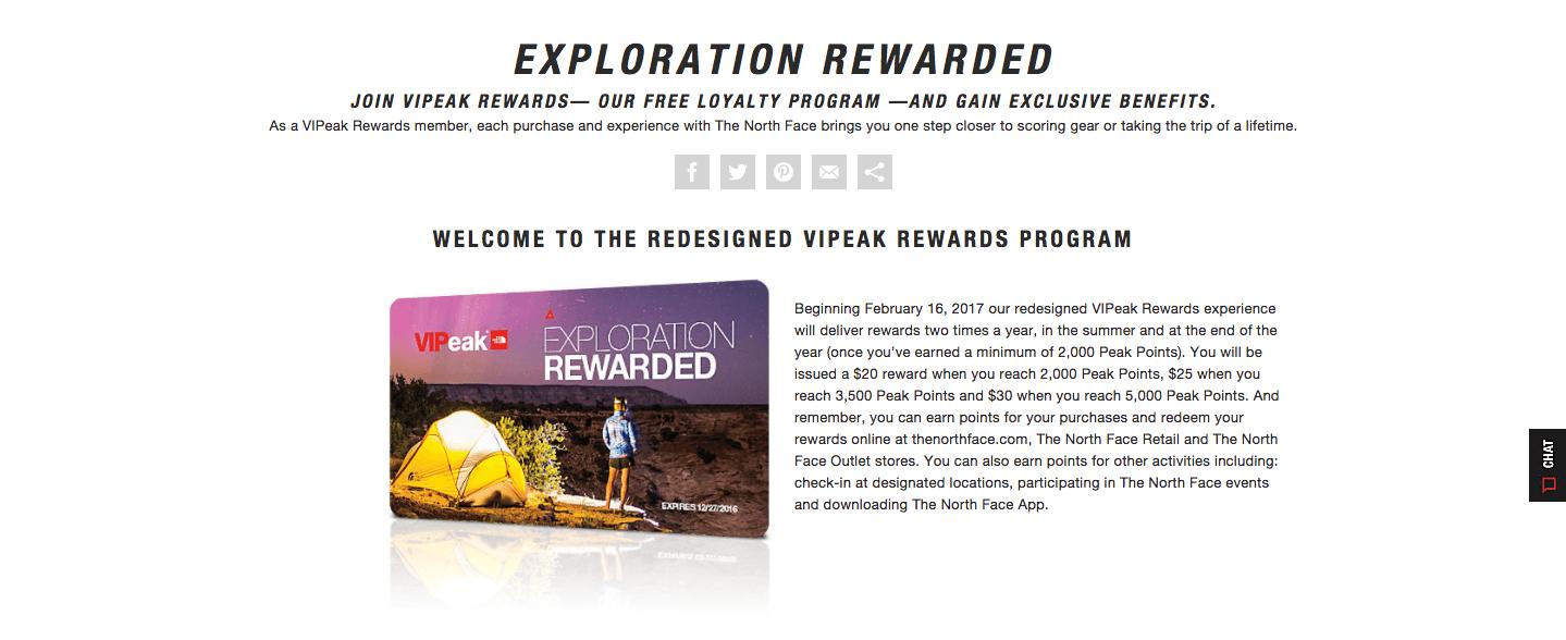 vipeak rewards exploration rewarded