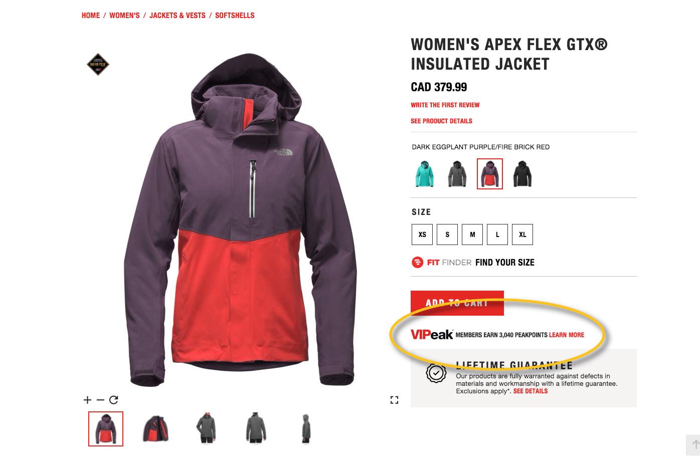 vipeak rewards product page