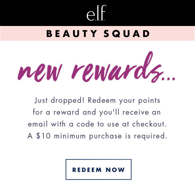e.l.f. new rewards email