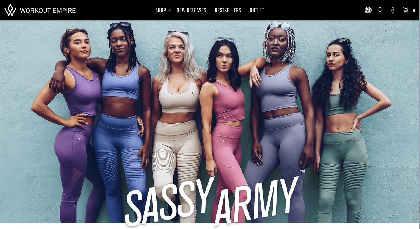 How to Build a Community Based on Emotions, Not Transactions - Workout Empire Sassy Army banner - women in Workout Empire clothing