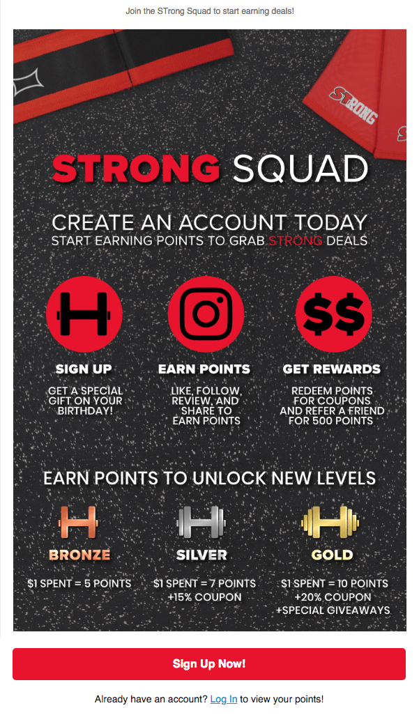 Email Launch Campaign for Mark Bell's Strong Squad