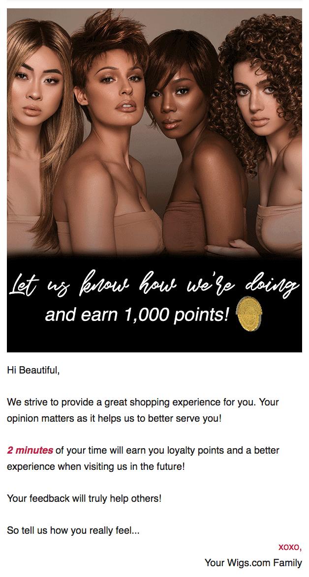Wigs.com feedback email