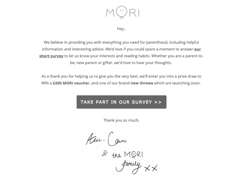 How to Turn Customer into Brand Advocates -Mori Feedback survey prompt