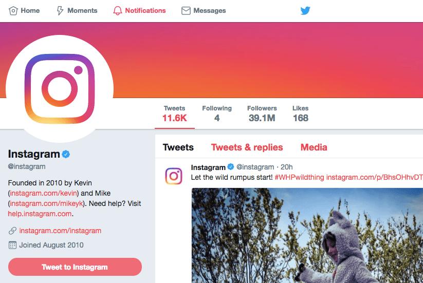 instagram's twitter vanity metrics