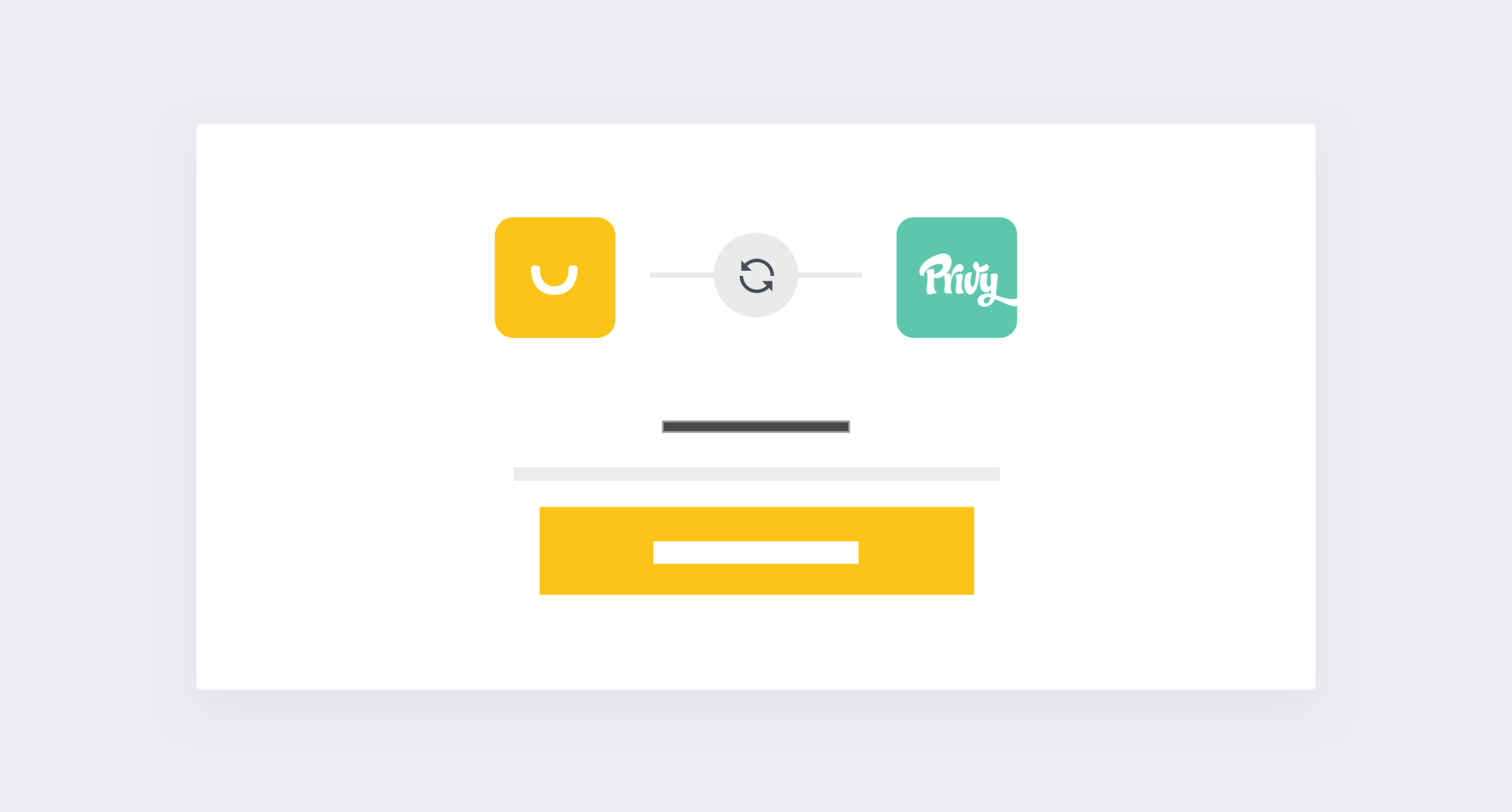 New Smile App Privy - Graphic to sync smile and privy accounts