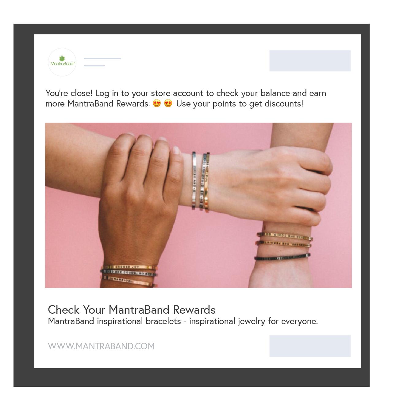 New Smile App Shoelace - existing member earn rewards with retargeting
