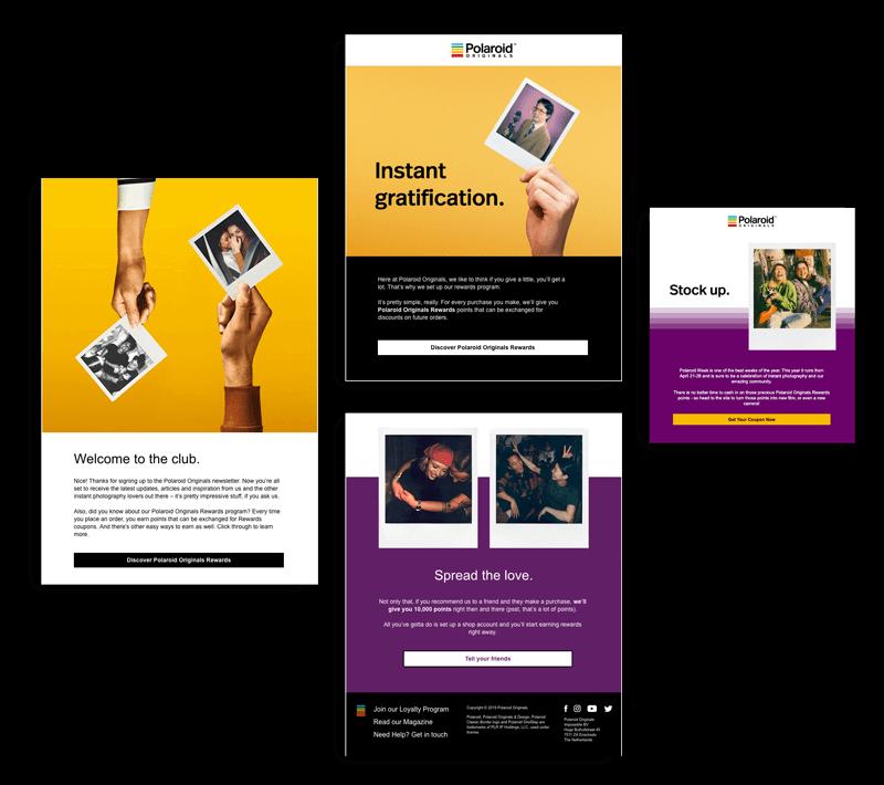 Polaroid rewards program emails