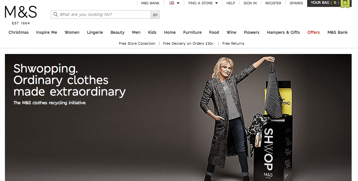Rewards Case Study M&S Spark Rewards - shwopping. ordinary clothes made extraordinary