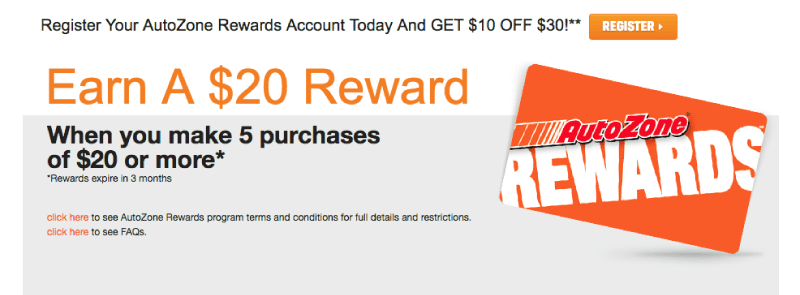 autozone rewards credit banner
