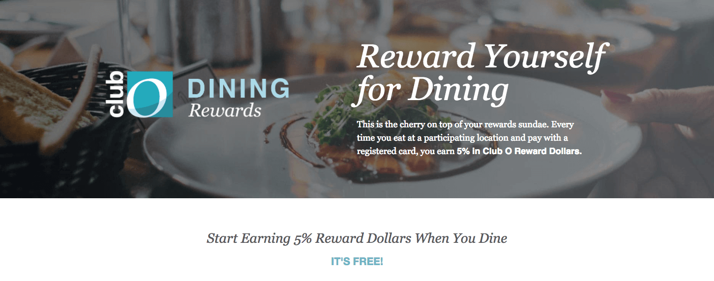 Overstock rewards customers for eating at certain restaurants