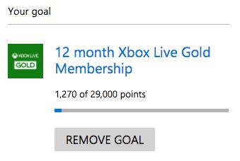 Xbox Live 12 month subscription goal