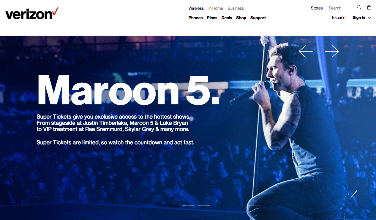 Verizon Up Rewards - Super Ticket to see Maroon 5