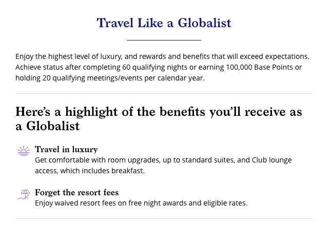 World of Hyatt Globalist Perks