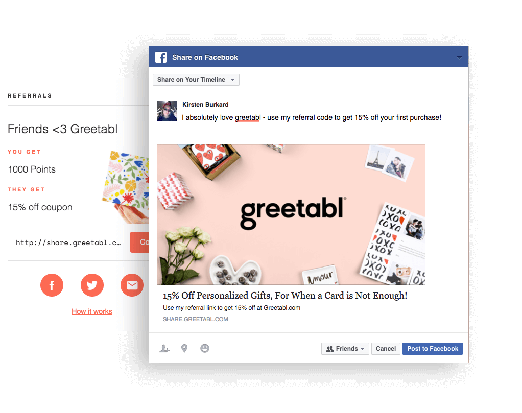 greetabl includes their logo in their referral messages