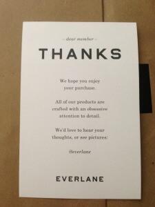 convert visitors into buyers everlane thanks